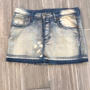 Chip & Pepper washed denim mini skirt, size 26